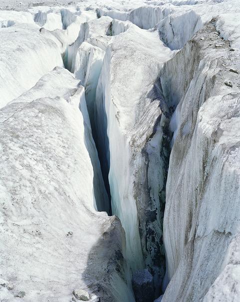 La mer de glace, Crevasses, Aurore Bagarry, Glaciers, galerie Sit Down