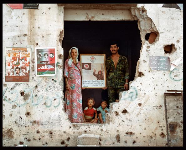 Série La ligne verte, Liban 1985  ©Yan MORVAN courtesy galerie SIT DOWN
