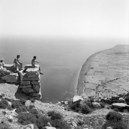 Robert McCABE, Thera. View to Perissa from the site of Ancient Thera © galerie Sit Down
