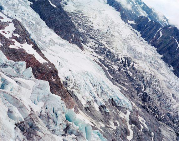 La Jonction, glaciers des Bossons et de Taconnaz, vallée de Chamonix, France, Aurore Bagarry, Glaciers, galerie Sit Down