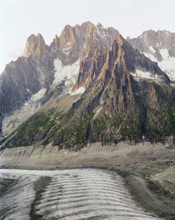 Glaciers de la Charpoua, du Moine et du Tacul, Aurore Bagarry, Glaciers, galerie Sit Down